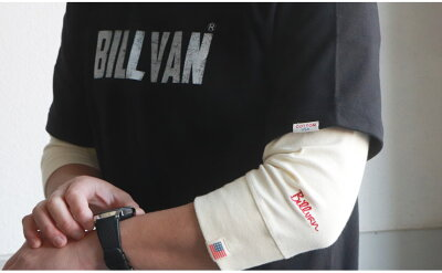 TシャツメンズアメカジBILLVANビルバンアメカジヴィンテージ・ロゴへヴィーウェイト半袖TシャツメンズCOTTONUSA0312