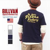 TシャツBILLVANPIZZAFACTORYバックプリントヘビーTシャツ210323ビルバンメンズ
