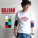 メンズ アメカジ Tシャツ BILLVAN アメリカンスタンダード ダイヤロゴ プリントTシャツ 290113 ビルバン