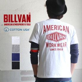 Tシャツ メンズ アメカジ BILLVAN バック ダイヤロゴ アメリカンスタンダード バックプリントTシャツ 290718 ビルバン メンズ アメカジ