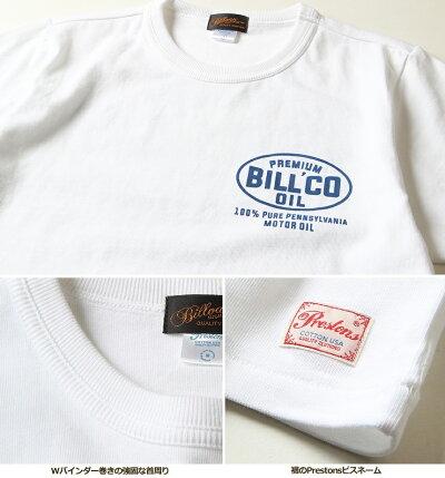 TシャツBILLVANオイルワークスBILLCOバックプリントTシャツ300309ビルバンメンズアメカジ2018春夏新作
