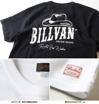 TシャツBILLVANDENIMFACTORYHAT柄バックプリントヘビーTシャツ310307SSビルバンメンズ