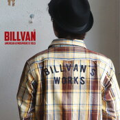 ネルシャツBILLVANWORKSバック刺繍ヘビーネルチェックシャツ03MUSTARD×BROWNメンズアメカジビルバン