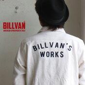 ネルシャツBILLVANWORKSバック刺繍無地ヘビーネルシャツ01OFFWHITEメンズアメカジビルバン