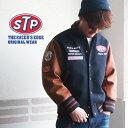 スタジャン STP WORLD CHAMPIONSHIP ワッペン刺繍 メルトン アワードジャケット スタジャン アメカジ メンズ