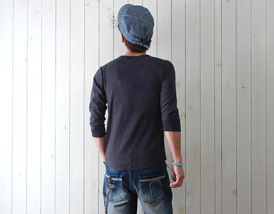 TシャツメンズBILLVANビルバンスパンフライス七分袖Tシャツアメカジカットソーメンズ
