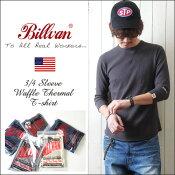 BILLVANワッフルフィットスタイル7分袖Tシャツアメカジパックシリーズ