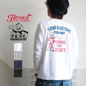 ロンT F.E.P.C アメカジYOUR ELECTRICバックプリント ロングTシャツ FEPC0004 メンズ アメカジ