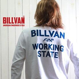 ロンT BILLVAN WORKING 726A ガゼット&リブ付き ヘビーロングTシャツ GBV-210726ls メンズ アメカジ