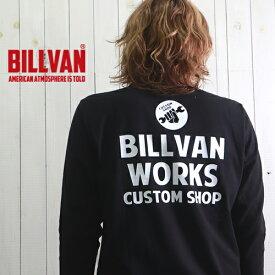 ロンT BILLVAN WORKS ガゼット&リブ付き ヘビーロングTシャツ BV-300305LS メンズ アメカジ