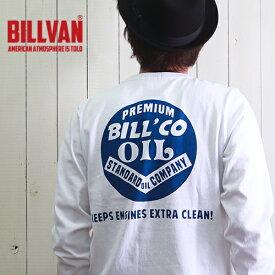 ロンT BILLVAN PREMIUM BILLCO OIL ガゼット&リブ付き ヘビーロングTシャツ GBV-300313ls メンズ アメカジ