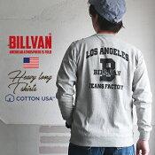 BILLVANビルバンL.AJEANSFACTORYガゼット&リブ付きヘビーロングTシャツ310346lsメンズアメカジ