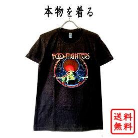 フー・ファイターズ FOO FIGHTERS 25周年記念 正規品 FooFighters tシャツ BLACK 黒 ブラック フーファイ バンドtシャツ ロックtシャツ ロゴt オフィシャル メンズ レディース 【メール便可】【送料無料】【RED MOON】