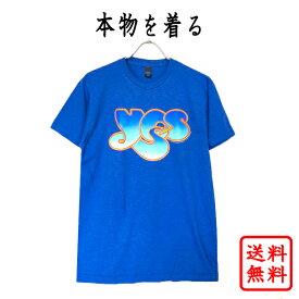 イエス YES 正規品 tシャツ デビュー 50周年記念 ブルー 青 ロックtシャツ オフィシャル メンズ レディース 【追跡可能メール便】【送料無料】【ネコポス】【LOGO】