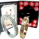 ペアリング ペアハワイアンジュエリー カップル 記念日 誕生日 プレゼント 結婚指輪 マリッジ マリッジリング 花 入…