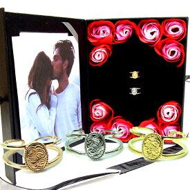 ペアリング ペアハワイアンジュエリー 指輪 カレイキニ スクロール 金属アレルギー対応 サージカル ステンレス 花 入浴剤 写真フレーム フラワー