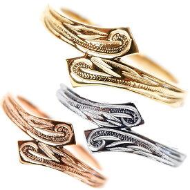 ハワイアンジュエリー リング レディース メンズ 指輪 イエローゴールド ピンクゴールド 誕生日 プレゼント サージカルステンレス sss