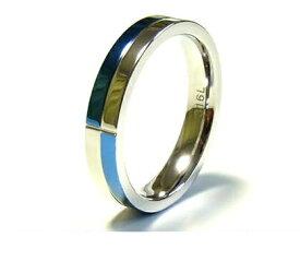 リング 指輪 メンズ ステンレス ブルー 刻印可能 ユニセックス レディース 青 ペア ruejoiesale サージカルステンレス