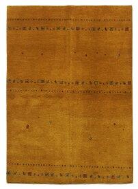 【イラン製】絨毯 ギャッベ ギャベ ペルシャ 約143x203cm 黄色 イエロー エントランス リビング 送料無料 新生活 インテリア カーペット マット ラグマット 床暖房 ホットカーペット