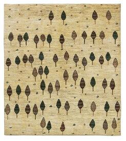 【イラン製】絨毯 ギャッベ ギャベ ペルシャ 約200x223cm ベージュ マルチ アイボリー リビング 送料無料 新生活 インテリア カーペット マット ラグマット 床暖房 ホットカーペット