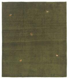 【イラン製】絨毯 ギャッベ ギャベ ペルシャ 約206x245cm 緑 グリーン リビング 送料無料 新生活 インテリア カーペット マット ラグマット 床暖房 ホットカーペット
