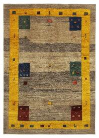 【イラン製】絨毯 ギャッベ ギャベ ペルシャ 約171x245cm ベージュ ブラウン リビング 送料無料 新生活 インテリア カーペット マット ラグマット 床暖房 ホットカーペット