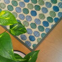 い草 ラグ い草花ござ い草カーペット 48x180cm 昼寝 国産 日本製 夏 和 洋 モダン グリーン ブルー いぐさ リビング フ…
