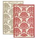 玄関マット「ルサージュ/Sultane(スルタナ)」 レッド&アイボリーの2色展開 綿100% 50×70cm フランステイスト溢れるエレガントな…