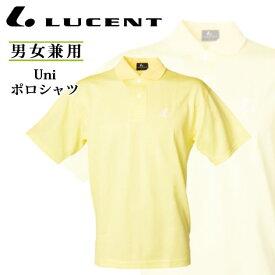 ルーセント テニスウエア Uni ポロシャツ XLP5093 LUCENT 半袖ゲームシャツ ライトイエロー 男女兼用