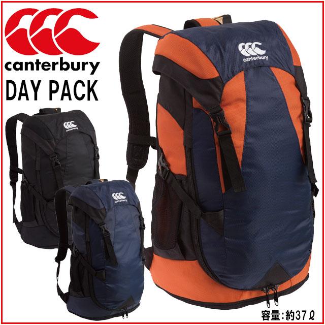 カンタベリー デイパック 本体上部分は巾着型の雨フタつき仕様のバッグ 底面は汚れ物などを収納できる袋型のポケット付 リュックサック DAYPACK 容量約37L AB07450 Canterbury