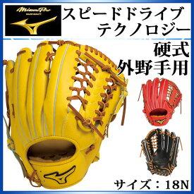 ミズノ 野球 硬式用グラブ ミズノプロ スピードドライブテクノロジー 外野手用 1AJGH14207 MIZUNO サイズ:18N 左投げあり