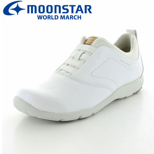 ムーンスター ワールドマーチ レディースシューズ WL3582 ホワイト 弾むような履き心地でレディースウォーキングスニーカーの中でも大人気モデル MS 女性用シューズ 48596981 MS シューズ