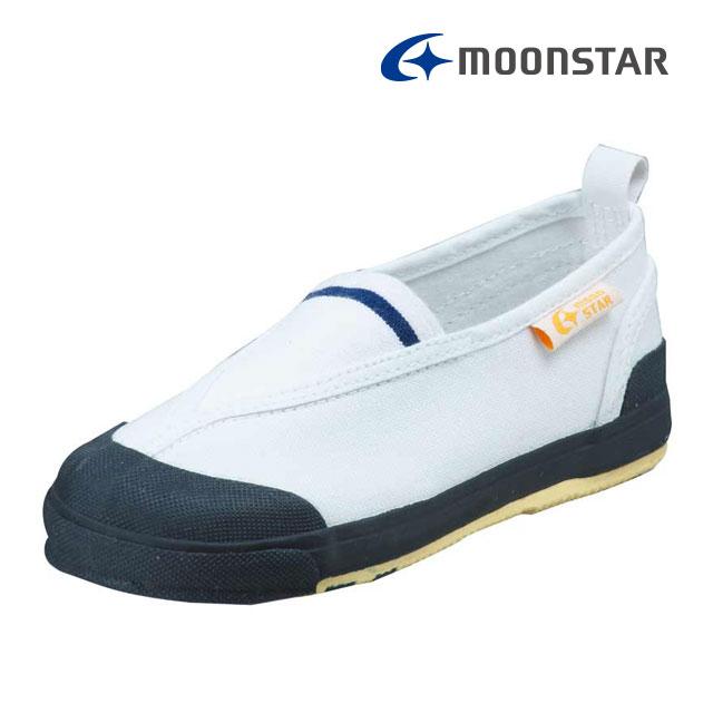 ムーンスター キャロット 子供靴 CR ST12 ネイビー 足の成長と健康をサポートする上履き MS シューズ