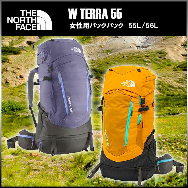 ■ ザ ノースフェイス/THE NORTH FACE レディースバックパック テラ 55 W TERRA 55 リュック 2泊3日程度のテント泊にまで対応する容量 55L 56L NMW61403