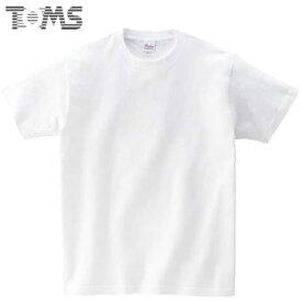 トムス Tシャツ ジュニア キッズ 無地 半袖Tシャツ ショートスリーブTシャツ S/S Tシャツ ヘビーウェイトTシャツ 5.6OZ 100-160 ウェア トップス シンプル TOMS 00085WA