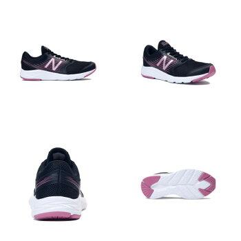 ニューバランスシューズレディース靴スニーカーW411ランニングシューズ運動靴フィットネスランデイリーユースクッション性耐久性女性用モデルランニングジョギングフィットネストレーニング用具小物220-255NEWBALANCEW411LP1D