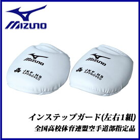 MIZUNO ミズノ 空手 23JHA60201 インステップガード 左右1組 プロテクター 全国高校体育連盟空手道部指定品