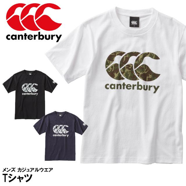 ☆ネコポス カンタベリー Tシャツ 半袖 RA38407 ロゴはニュージーランド軍の迷彩柄をプリントを使用 2018年モデル メンズトレーニング Tシャツ canterbury