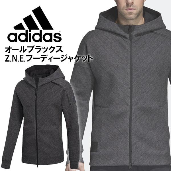 ☆ アディダス ラグビーウエア オールブラックス Z.N.E.フーディージャケット ダブルニット ウインドジャケット adidas DMQ50