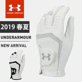 ☆ネコポス アンダーアーマー メンズ ゴルフ グローブ 手袋 1331180 UA バーディー ゴルフグローブ 2.0 ヒートギア 耐久性 グリップ性 あす楽