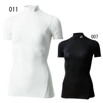 (Yonex) YONEX badminton-tennis compression shirt STBF1503 ladies high neck short sleeve T shirt core balance functional inner UV cut Japan-care