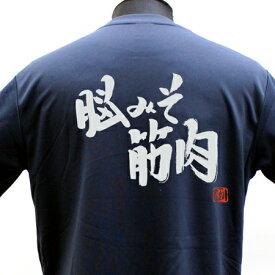 【ラグビー Tシャツ】 脳みそ筋肉 ポリTシャツ 練習着 ラグビー トレーニング 吸水速乾