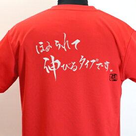 【ラグビーTシャツ】 ほめられて伸びるポリTシャツ 練習着 ラグビー トレーニング 吸水速乾 【ほめられて伸びるタイプです。】