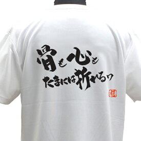 【ラグビーTシャツ】骨も心もポリTシャツ 練習着 【骨も心もたまには折れるワ】 ラグビー トレーニング 吸水速乾