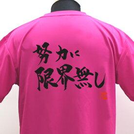 【ラグビーTシャツ】努力に限界無しポリTシャツ 練習着 ラグビー トレーニング 吸水速乾