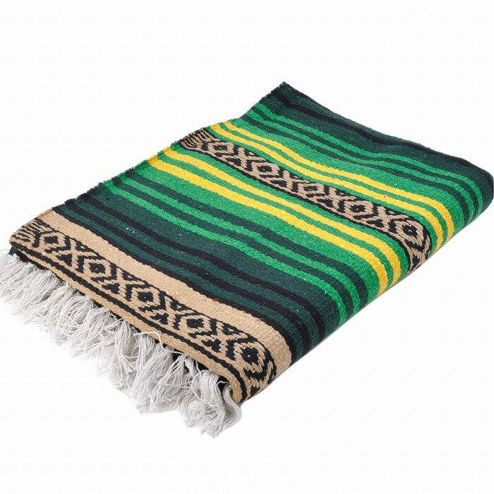 エルパソサドルブランケット (El Paso SADDLEBLANKET) Peyote Blanket/ペヨーテブランケット[約188×142cm]GREEN/YELLOW