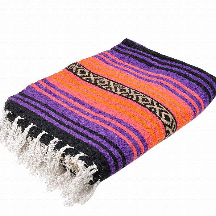 エルパソサドルブランケット (El Paso SADDLEBLANKET) Peyote Blanket/ペヨーテブランケット[約188×142cm]PURPLE/SALMON