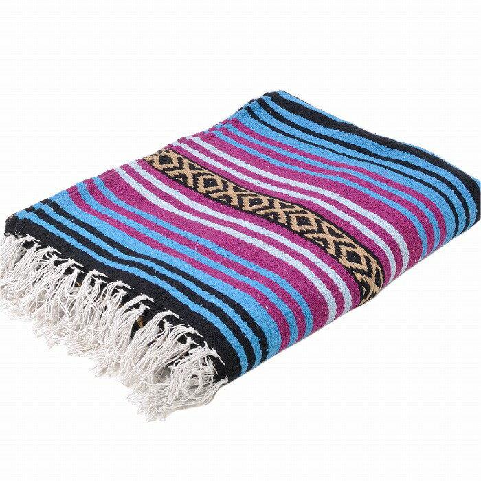 エルパソサドルブランケット (El Paso SADDLEBLANKET) Peyote Blanket/ペヨーテブランケット[約188×142cm]TURQUOISE/DK.CHERRY