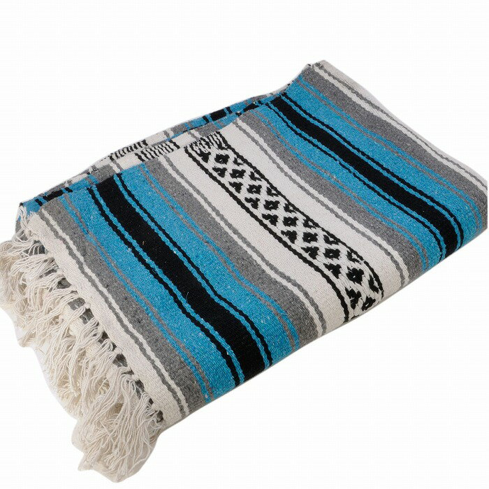 エルパソサドルブランケット (El Paso SADDLEBLANKET) New West Traditional Falsa Blanket/ニューウェストファルサブランケット[約188×142cm]TURQUOISE