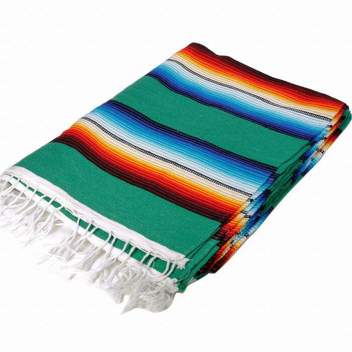 エルパソサドルブランケット (El Paso SADDLEBLANKET) Classic Fire&Ice Serape Blanket/クラシックサラペブランケット[約213×152cm]TEAL